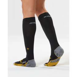 2XU - FLIGHT Compression Socks W - negru-galben