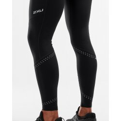 2XU - Wind Defence Compression Tights - Black/Striped Silver Reflectiv