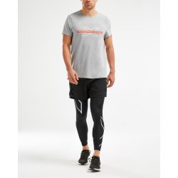 2XU - URBAN S/S Crew Graphic Tee - Grey Marle/Grey Marle