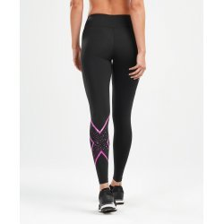 2XU - Bonded Mid-Rise Tights - Black/Galaxy Rose Violet