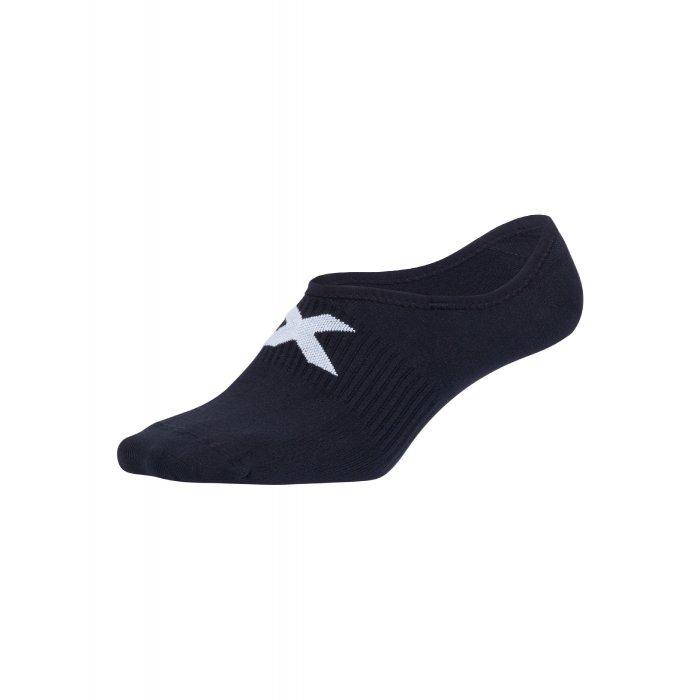 2XU - Sosete pentru ciclism Invisible Sock - negru alb
