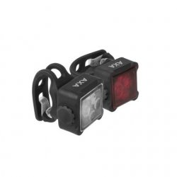 AXA - Set lumini pentru bicicleta (Far + stop) Niteline 44-R/USB, 1 led - negru