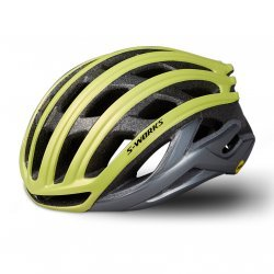 Specialized - casca ciclism sosea - S-Works Prevail II cu ANGI - galben fluo gri