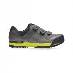 Specialized 2FO ClipLite - pantofi pentru ciclism mtb - gri galben-fluo