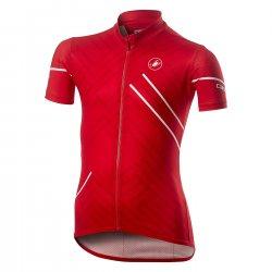 Castelli Campioncino - Tricou copii cu maneca scurta pentru ciclsm - rosu