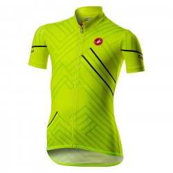 Castelli Campioncino - Tricou copii cu maneca scurta pentru ciclsm - galben fluo