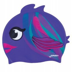 Finis Casca Inot Silicon Copii - Plum Fish Mov