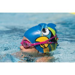 Finis Casca Inot Silicon Copii - Pirate Parrot Blue