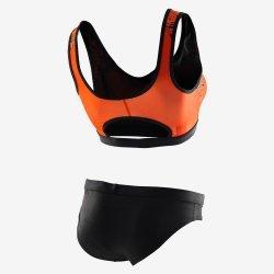 Orca - Costum de baie doua piese Femei - portocaliu negru