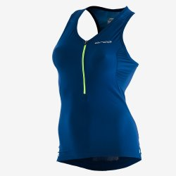Orca 226 Perform Top Sleeveless - top femei pentru triatlon - albastru