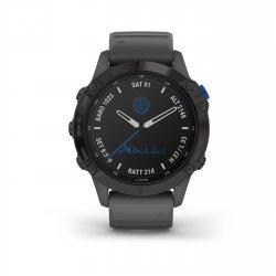 Garmin - Fenix 6 PRO Solar - rama si curea silicon neagra - ceas inteligent premium GPS pentru sport