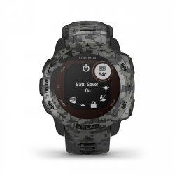 Garmin - Instinct Solar Camo edition - Graphite - ceas inteligent cu GPS cu functii avansate pentru sport si incarcare solara