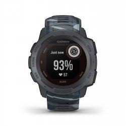 Garmin - Instinct Solar Surf edition - Pipeline - ceas inteligent cu GPS cu functii avansate pentru sport si incarcare solara