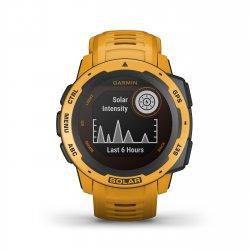 Garmin - Instinct Solar - galben Sunburst - ceas inteligent cu GPS cu functii avansate pentru sport si incarcare solara