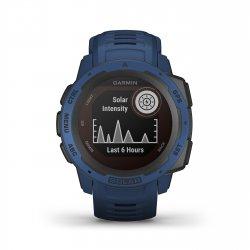 Garmin - Instinct Solar - albastru Tidal - ceas inteligent cu GPS cu functii avansate pentru sport si incarcare solara