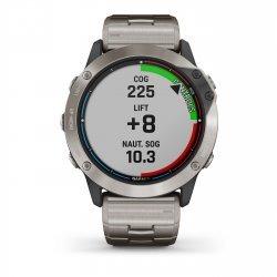 Garmin - quatix 6x Solar Titanium - ceas inteligent premium cu GPS cu functii avansate pentru sport si navigatie - 51mm diametru