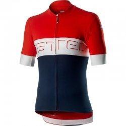 Castelli Prologo 4 - tricou cu maneca scurta - rosu-alb-bleumarin