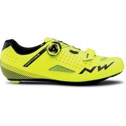 Northwave Core Plus - pantofi pentru ciclism sosea - galben fluo