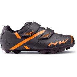 Northwave Spike 2 - pantofi pentru ciclism MTB - antracit portocaliu