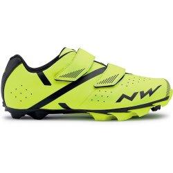 Northwave Spike 2 - pantofi pentru ciclism MTB - galben fluo