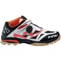 Northwave Enduro Mid - pantofi pentru ciclism mtb - alb negru rosu