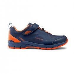 Northwave Escape Evo - pantofi pentru ciclism MTB All Mountain - albastru portocaliu