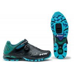 Northwave Spider Plus 2 - pantofi pentru ciclism mtb - negru albastru