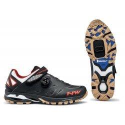 Northwave Spider Plus 2 - pantofi pentru ciclism mtb - negru alb