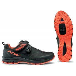 Northwave Corsair - pantofi pentru ciclism mtb - negru portocaliu