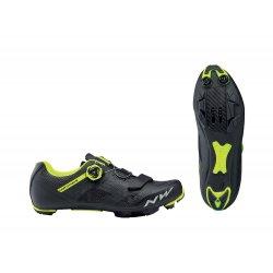 Northwave Razer - pantofi pentru ciclism MTB - negru galben fluo