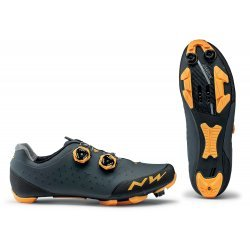 Northwave Rebel 2 - pantofi pentru ciclism MTB - antracit portocaliu