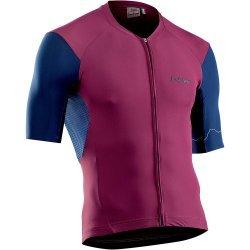 Northwave - Extreme 4 - tricou pentru ciclism cu maneca scurta - bordeux albastru