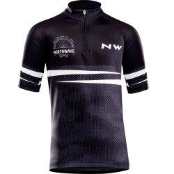 Northwave Origin Junior - tricou cu maneca scurta pentru ciclism pentru copii - negru-gri