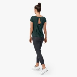 On Cloud On Active-T Breathe - tricou de alergare pentru femei - verde ivy
