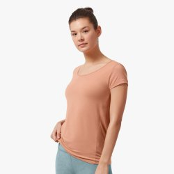 On Cloud On Active-T Breathe - tricou de alergare pentru femei - portocaliu blush