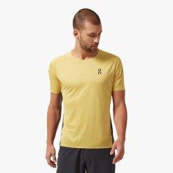 On Performance-T - Mustard Pebble - tricou sport tehnic pentru barbati