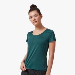 On Performance-T - Evergreen Black - tricou sport tehnic pentru femei