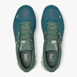 On Cloudflow men running shoes - sea blue petrol green