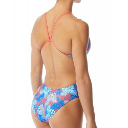 TYR - Womens 1 piece swimsuit - Tortuga Cutoutfit - blue