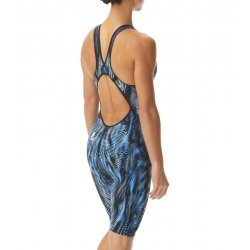 TYR - costum tehnic inot femei - Venzo Open Back - albastru