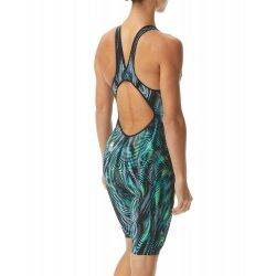TYR - costum tehnic inot femei - Venzo Open Back - verde