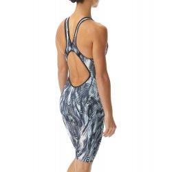TYR - costum tehnic inot femei - Venzo Open Back - alb-gri