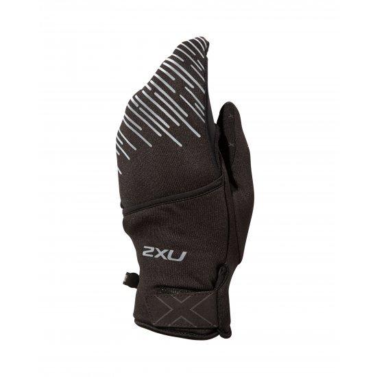 2XU - Manusi alergare cu un singur deget - negre reflectorizante