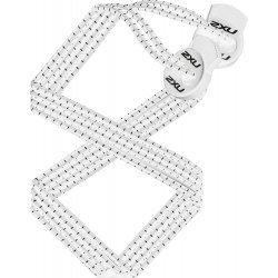 2XU - Sireturi elastice triatlon - albe