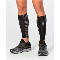 2XU - Compresii gamba - negre cu elemente reflectorizante