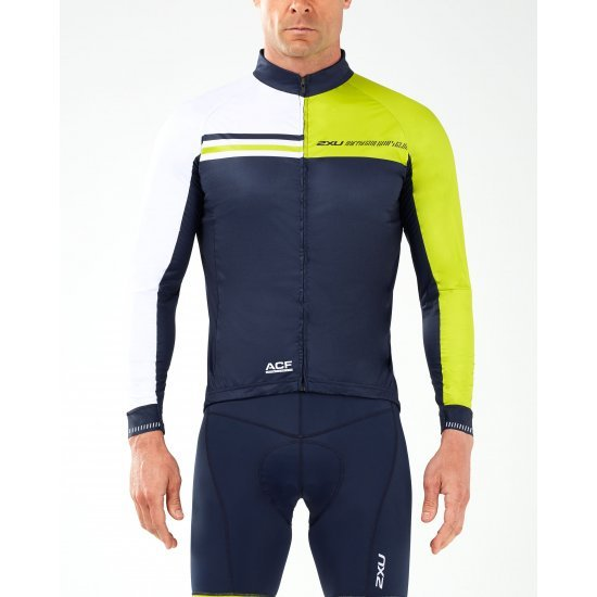 2XU - Aero Winter Cycle Jacket - albastru-galben