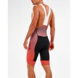 2XU - Elite Cycle Bib Shorts - negru portocaliu