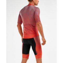 2XU - Aero Cycle Jersey - Tricou ciclism - portocaliu