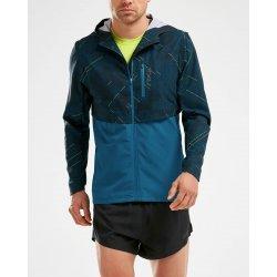 2XU GHST Woven 2 in 1 Jacket - camo albastru - jacheta alergare
