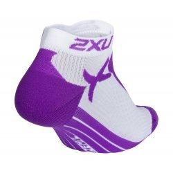 2XU - Sosete - Low Rise Sock W - Alb-Mov